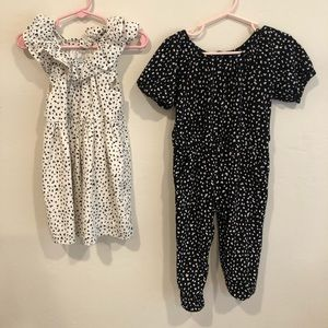 Old navy 2 pieces. Black and white dress & romper